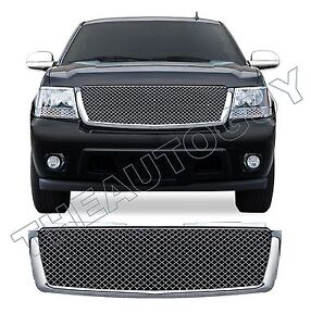 2011 2012 2013 Chevrolet Tahoe Abs Chrome Mesh Style Replacement Grill