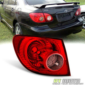 For 2005 2006 2007 2008 Toyota Corolla Tail Light Lamps Outer Rear Driver Side