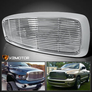 2002 2005 Dodge Ram 1500 2500 3500 Chrome Abs Front Hood Grill Grille