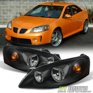 New Black 2005 2010 Pontiac G6 Headlights Headlamps Aftermarket 05 10 Left right
