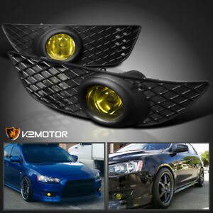 2008 2012 Mitsubishi Lancer Es De Yellow Bumper Driving Fog Lights Switch Kit