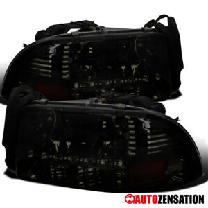 Dodge 1997 2001 Dakota 1998 2003 Durango Smoke Headlights W Smd Led Lamps