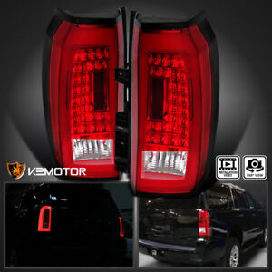 For 2015 2018 Chevy Tahoe Suburban Brake Red Led Tail Lights Lamps Left Right
