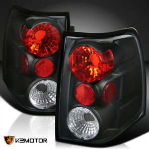 Fit 2003 2006 Ford Expedition Black Rear Brake Lamps Stop Tail Lights Pair