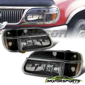 1995 2001 Ford Explorer 1997 Mercury Mountaineer Black Headlights Corner Lamps