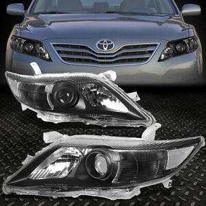 For 10 11 Toyota Camry Black Housing Clear Corner Projector Headlight Head Lamp