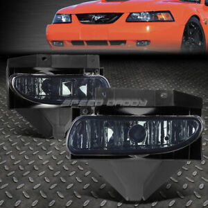 For 99 04 Ford Mustang Gt Smoked Lens Bumper Driving Fog Light Replacement Lamps