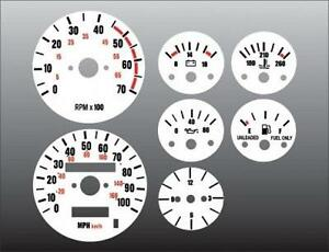 1987 1991 Jeep Wrangler Yj Dash Instrument Cluster White Face Gauges 87 91