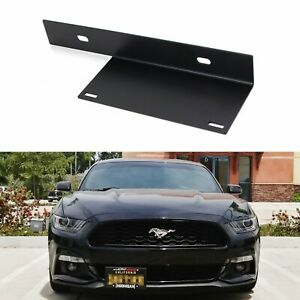 No Drill Front Bumper License Plate Bracket Relocator For 2015 2017 Ford Mustang