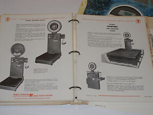 Vintage 1950s 70s Toledo Industrial Scale Catalog Truck Counting Cotton Person