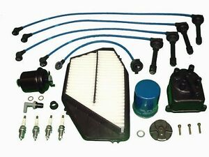 Tune Up Kit Honda Accord Lx Dx Se 1994 To 1997 4 Cyl 2 2 Cap Rotor Plugs Wires
