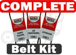Honda Civic Si 1999 2000 Bando Oem 3pc Belt Kit Alt Ac Ps 4pk775 4pk845 4p880