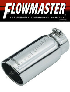 Flowmaster 15368 Polished Clamp On Exhaust Tip 5 Rolled Angle Fits 4 Pipe