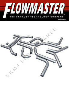 Flowmaster 15936 Universal 2 5 16 piece Mandrel bent Dual Exhaust Pipe Kit