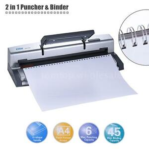 Dsb Portable A4 Paper Puncher Binder Punch 34 32 Hole 6 4mm Wire Binding Machine
