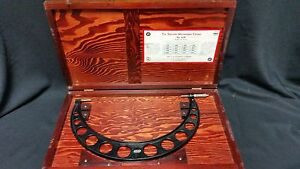 Starrett No 224 12 16 Outside Micrometer W Wood Case Fast Delivery