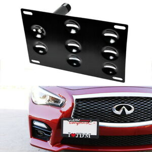 Front Bumper Tow Hook License Plate Mounting Bracket Holder For Nissan Infiniti