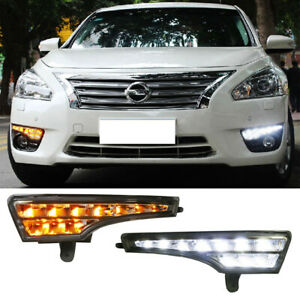 Switchback Led Daytime Running Lights Led Turn Signal For 2013 15 Nissan Altima