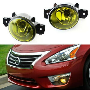 Yellow Oem Replacement Fog Light Lamps W H11 Halogen Bulbs For Nissan Infiniti