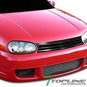 Topline For 1999 2006 Golf Gti Mk4 Horizontal Front Hood Bumper Grille Black