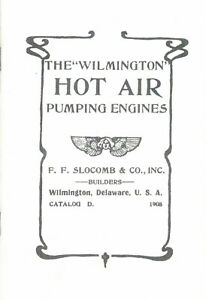 Wilmington Hot Air Pumping Engines Booklet Hit Miss