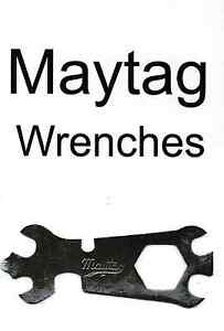 Maytag Gas Motor Engine Wrench Guide Book Model 92 82 72 Hit Miss Washer Tool