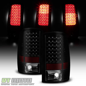 Black Smoke 2000 2006 Chevy Suburban 1500 2500 Tahoe Yukon Led Tail Lights Lamps