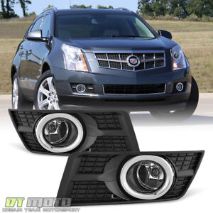 2010 2016 Cadillac Srx Clear Complete Fog Lights Bumper Lamps W Switch harness