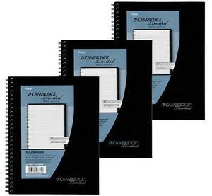 3 Pack Of Mead Cambridge Wirebound Business Notebook Legal Rule 6 5 8 X 9