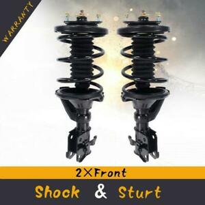 Pair 2 Front Quick Complete Struts Coil Springs Assembly For 01 05 Honda Civic