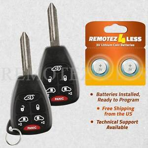 2 For 2004 2005 2006 2007 Chrysler Town Country Keyless Entry Remote Car Key Fob
