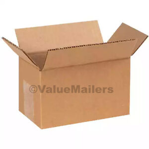 25 12x8x3 Cardboard Shipping Boxes Cartons Packing Moving Mailing Box Storage