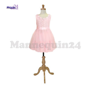 Kids Dress Form Mannequin For 7 8 Yr With Wooden Base Child Clothing Disply