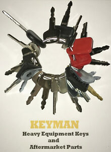 21 Keys Heavy Equipment Construction Ignition Key Set