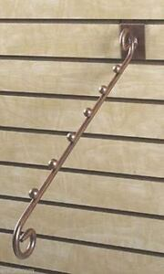 For Sale 6 Boutique Slat Wall Waterfall 6 Knob Dividers cobblestone