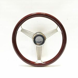 Chevy Ss 15 Mahogany Banjo Steering Wheel With Stainless Steel Spokes