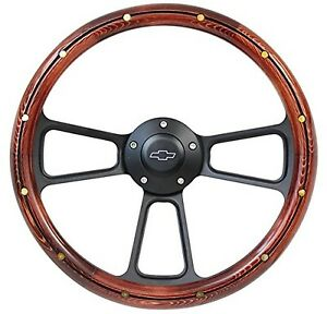 1960 69 Chevy Ck Series Pick Up Truck Wood Steering Wheel Adapter Chevy Horn