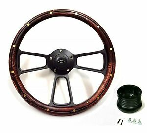 1957 1963 Chevy Bel Air Impala Nomad Wood Steering Wheel Adapter Chevy Horn