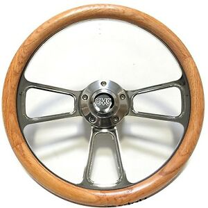 1948 1959 Gmc Pick Up Trucks Real Oak Billet Steering Wheel Gmc Horn Kit