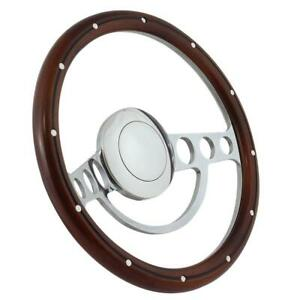 1940 1947 Chevy Pick Up W Aftermarket Gm Column Wood Chrome Steering Wheel