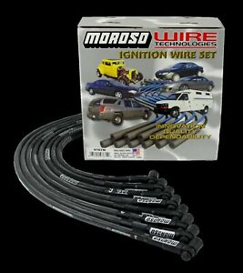 Moroso 9767m Sbc Small Block Chevy Race 8mm Spark Plug Wires Hei Under Header