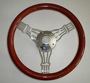 14 Light Mahogany Billet Aluminum Banjo Steering Wheel Horn Hub Adapter