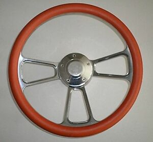 Orange Half Wrap 14 Billet Aluminum Steering Wheel Hub Adaptor