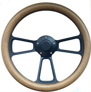 Hot Rod Street Rod Rat Rod Truck Tan Pbk Billet Steering Wheel Horn Adapter