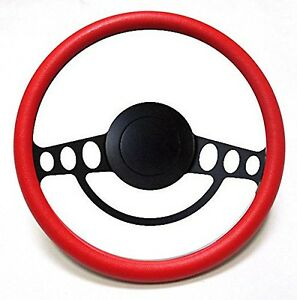 New Hot Rod Street Rod Rat Rod W Ididit Gm Column Red Steering Wheel Kit