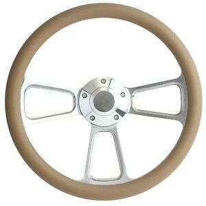 1968 1969 Dodge Plymouth Tan Billet Steering Wheel Full Install Kit Horn