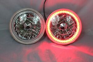 1971 1975 Chevy El Camino 7 Round 6014 6015 6024 Red Led Smd Halo Headlights