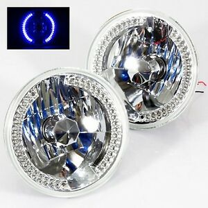1979 1981 Toyota Pickup 7 Round 6014 6015 6024 Chrome Diamond Headlights Bl