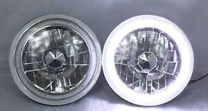 1965 1973 Ford Mustang 7 Round 6014 6015 6024 White Led Smd Halo Headlights