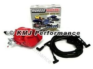 Small Block Sbc Chevy 305 350 400 Hei Distributor Moroso Race Wires 90 Kit